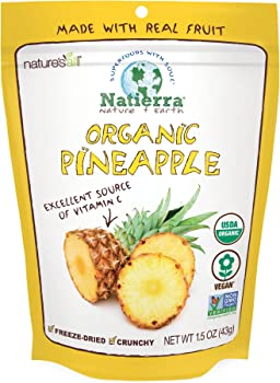 Natierra Nature's All Foods Freeze & Dried Organic Pineapple