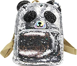 ZGMYC Cute Cat Panda Sparkly Sequins Backpack Fashion Bookbag Casual Travel Shoulder Daypack for Women Girls