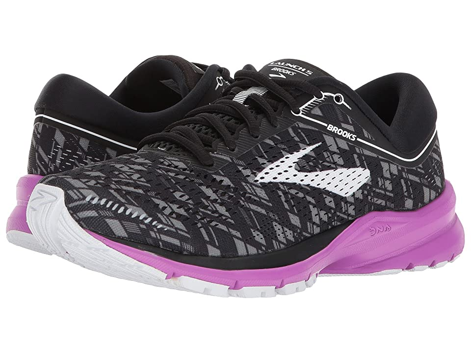 Brooks Launch 5 (Black/Purple/Print) Women