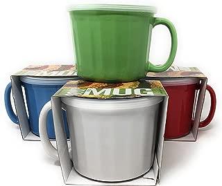 Multi-purpose Ceramic Mugs With Handles And Covers Multipack- (4)