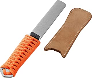 SHARPAL 181N BUDDYGUARD Dual-Grit Diamond Knife Tool Sharpener Sharpening Stone with Leather Strop, Coarse/Extra Fine