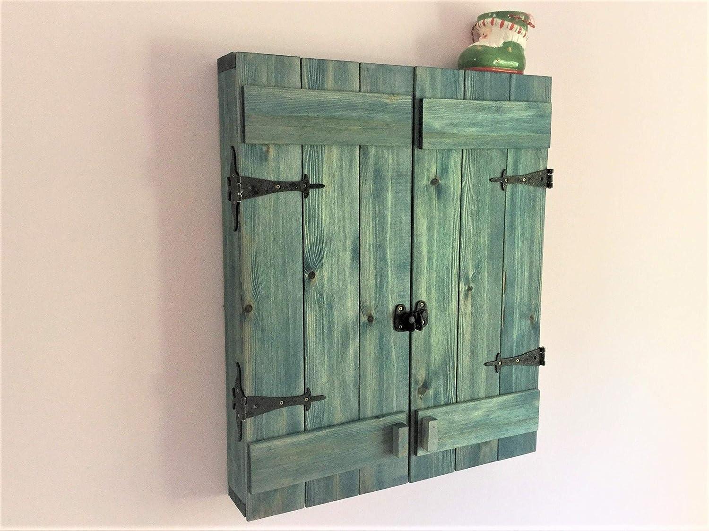 Handmade Medium Barn Door Jewelry Cabinet Cheap bargain Max 74% OFF - Wood Custom Solid –