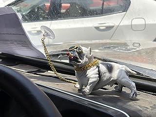 Pitbull Bully Dog Bad Boy Simulator Chain Smoker Attractive Car Dashboard Show Dog by Asiatick (White)