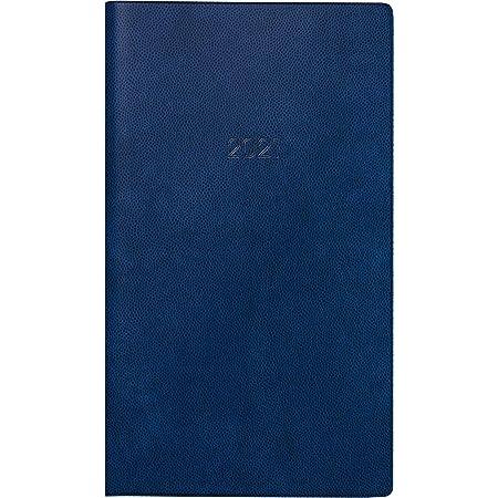 BRUNNEN 1075028301 Taschenkalender//Monats-Sichtkalender Modell 750 Kunststoff-Einband blau 8,7 x 15,3 cm Kalendarium 2021 2 Seiten = 1 Monat