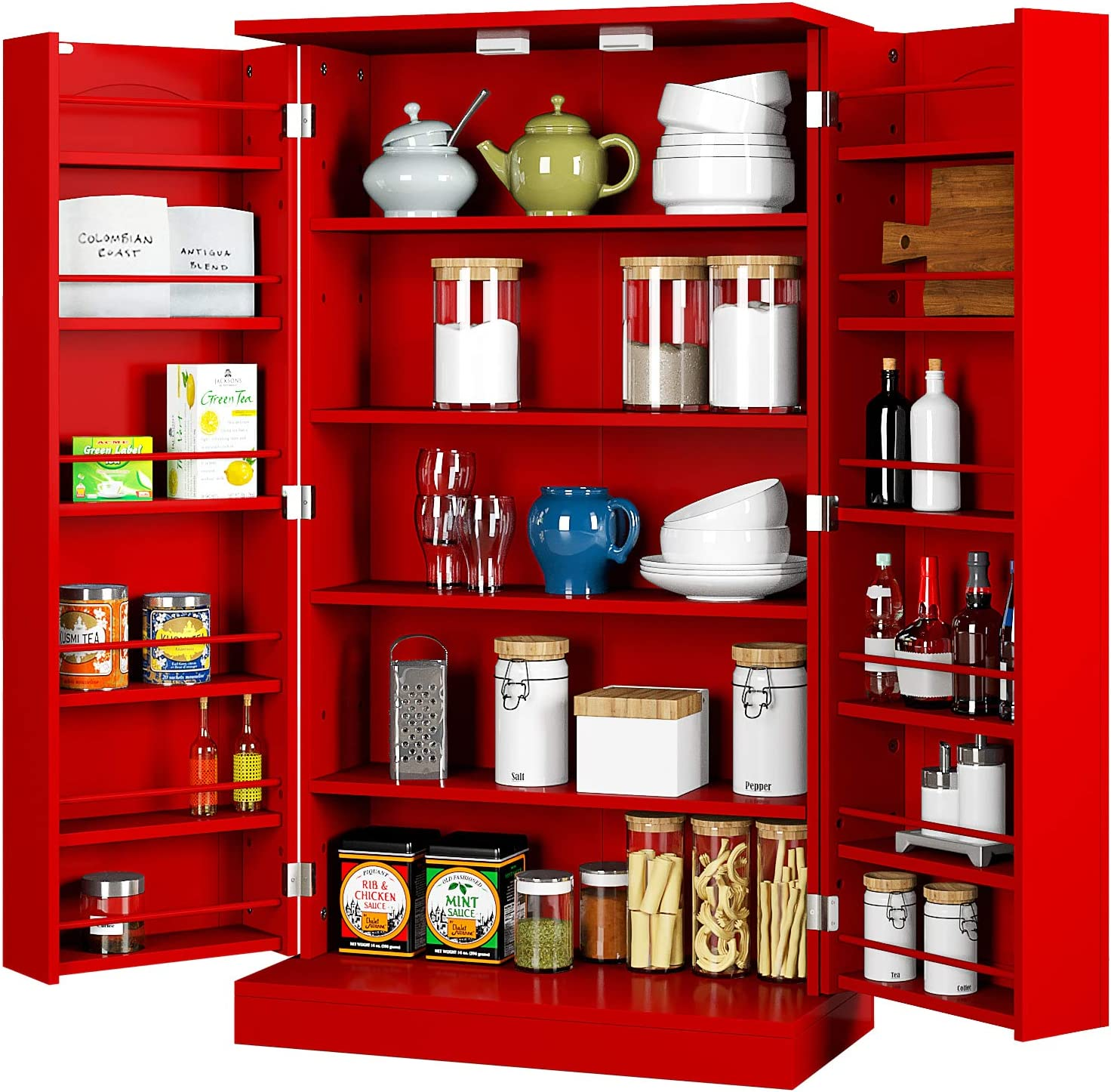 HOMEFORT Kitchen Pantry Cabinet with Storage Our shop OFFers the Nippon regular agency best service Adjustab 6