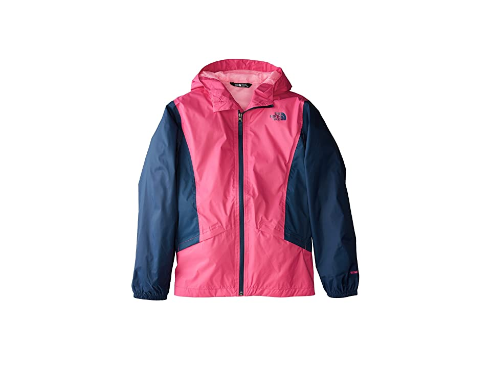 The North Face Kids Zipline Rain Jacket (Little Kids/Big Kids) (Petticoat Pink/Blue Wing Teal/Gem Pink) Girl