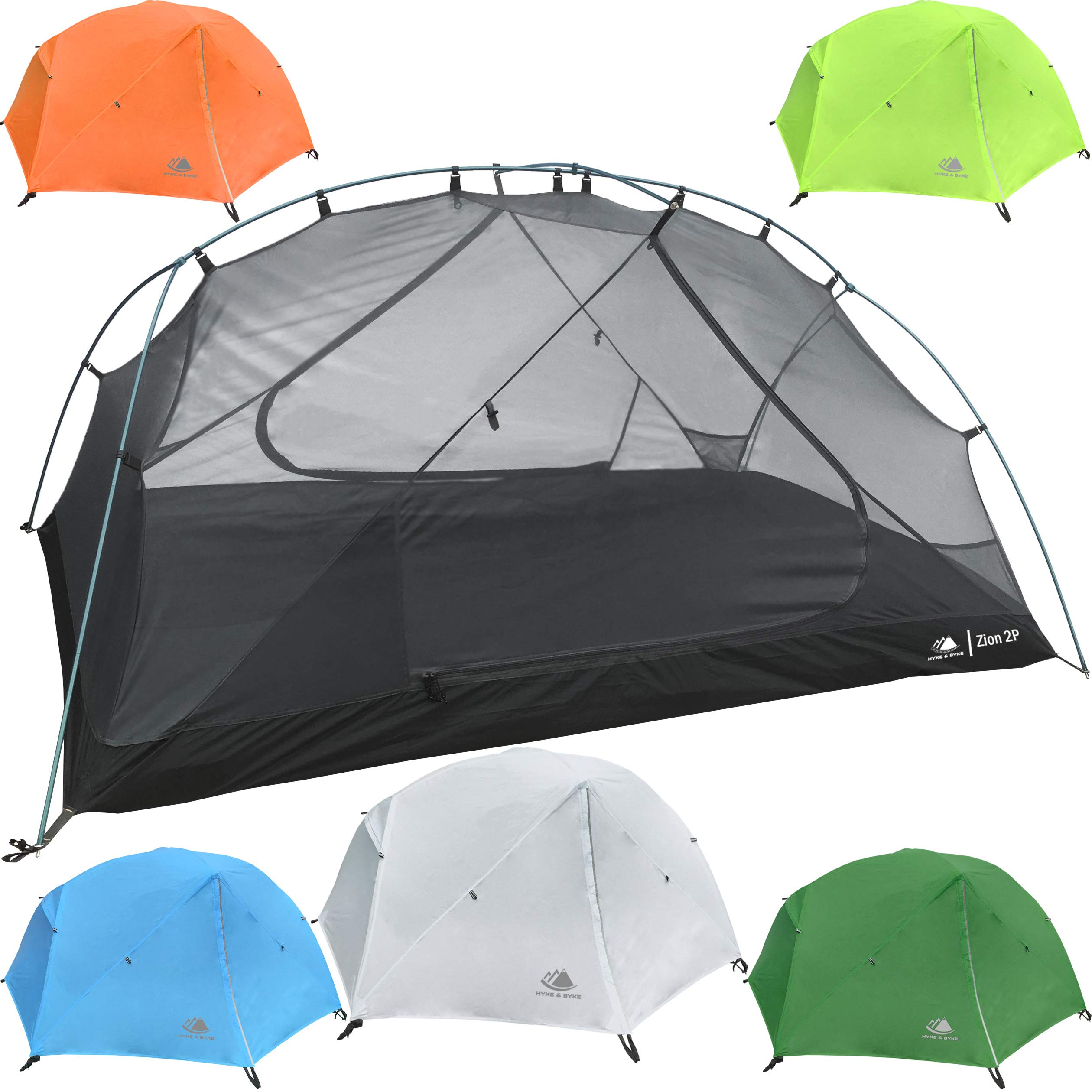Hyke u0026 Byke Zion 1 and 2 Person Backpacking Tents with Footprint - Lightweight Two Door Ultralight Dome C&ing Tent  sc 1 st  Amazon.com & Best ultralight tents for backpacking | Amazon.com