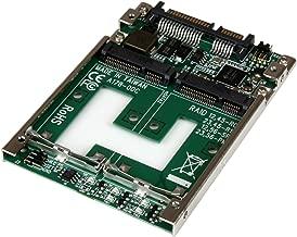 "StarTech.com Dual mSATA SSD to 2.5"" SATA RAID Adapter Converter - 2X mSATA SSD to 2.5in SATA Adapter with RAID and 7mm Open Frame Housing (25SAT22MSAT)"
