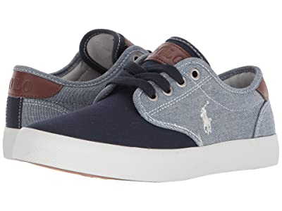 Polo Ralph Lauren Kids Luwes (Big Kid) (Blue Chambray/Navy Canvas/White Pony Player) Boy