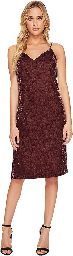 Splendid - Velvet Slip Dress w/ Tuxedo Trim Sides