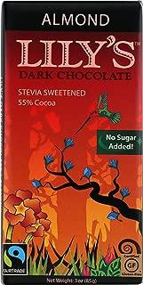 Lily's Sweets Dark Chocolate bar, Almond, 3 oz