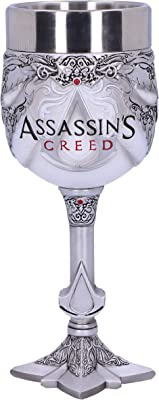 Nemesis Now B5297S0 Officially Licensed Assassins Creed White Game Goblet, Resin w. Stainless Steel