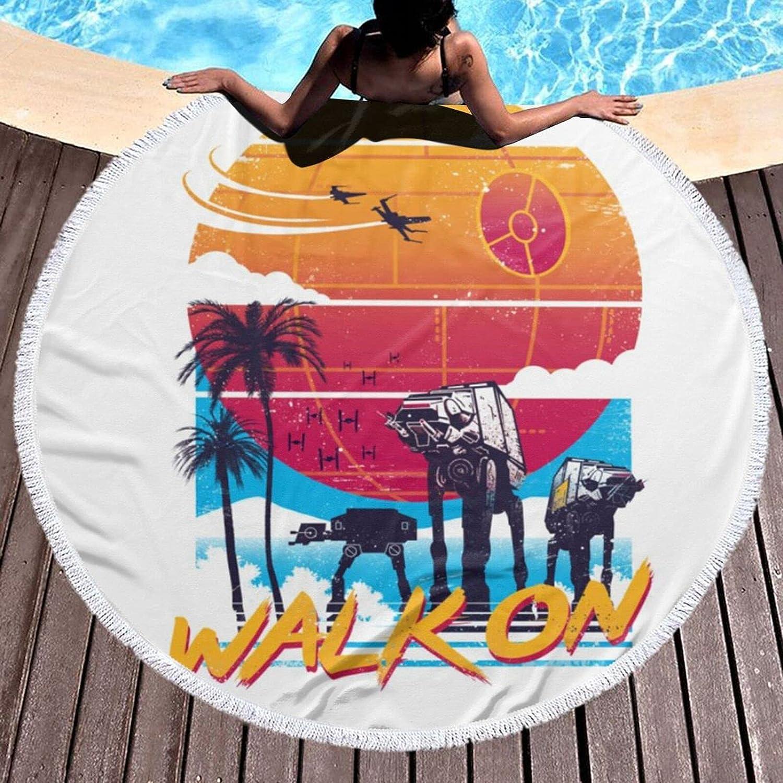 Round Beach Towel Columbus Ranking TOP8 Mall Walk ON Bath Quick- Microfiber Oversized