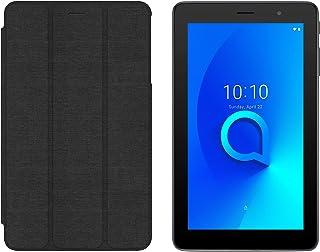 Alcatel 1T 9009G Tablet, 7 Inch, 16GB, 1GB RAM, 3G, Prime Black with Flip Cover