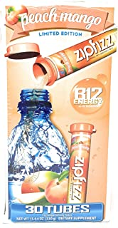 Zipfizz Energy Drink Mix, Hydration with B12 and Multi Vitamins, Peach Mango, 30 Count