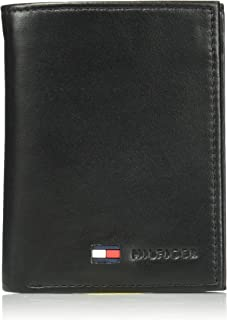 Tommy Hilfiger Men's Polished Lamb Credit Card Organizer,Black,One Size