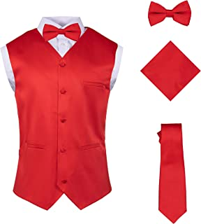 red vest and bow tie