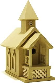 American Original Dollhouse DIY Prairie Church Birdhouse Kit