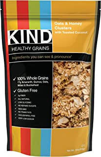 KIND Healthy Grains Clusters, Oats and Honey with Toasted Coconut, 11-Ounce