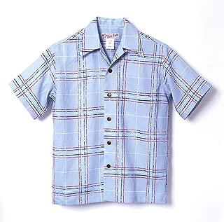 HULA KEIKI (フラケイキ) アロハシャツ【ラフチェック rough check 】HK-19003 / SAX