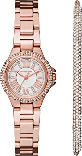 Michael Kors Women's Petite Camille Rose Gold-Tone Watch MK3654