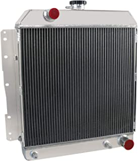 OzCoolingParts 4 Row Core All Aluminum Radiator for 1958 Chevy Impala Caprice BelAir L6 V8 Engines w/Cooler AT/MT