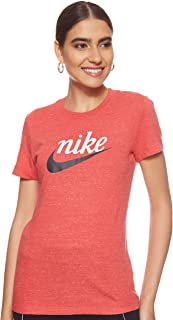 Nike Women's Varsity T-Shirt, Red (Track Red/Off Noir), Medium