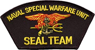 Naval Special Warfare Unit Seal Team Embroidered Iron-On Patch