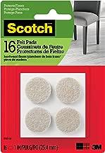 Scotch Brand SP801-NA Scotch Felt Pads Round, 1 in. Diameter, Beige, 16/Pack