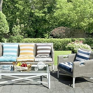 Madison Park Percee Printed Cabana Stripe 3M Scotchgard Outdoor Seat Cushion for Patio Garden and Courtyard, 20