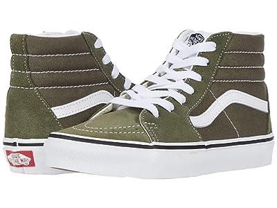 Vans Kids SK8-Hi (Little Kid) (Grape Leaf/True White) Kids Shoes