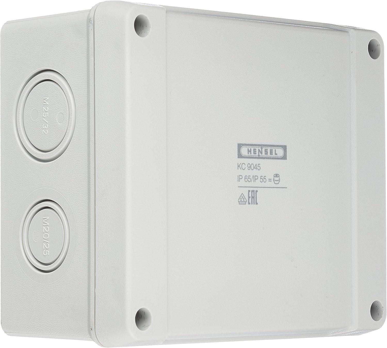 Hensel KC 9045 - Caja de derivación para Cables (1,5-4 mm², 3 Pines) 5p. Caja para Montaje en Pared/Techo 4012591111306