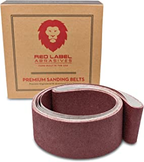 2 X 42 Inch Flexible Aluminum Oxide Premium Quality Multipurpose Sanding Belts 60, 80, 120, 220, 320, 400 Grit, 6 Pack Assortment