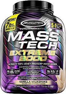 Mass Gainer Protein Powder, MuscleTech Mass-Tech Extreme 2000 Mass Gainer, Max Protein Weight Gainer, Muscle Gainer Protei...