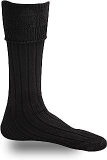 Men`s Scottish Highland Wear Kilt Hose Socks S/M/L/XL Black