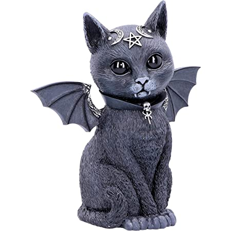 Pawzuph Winged Occult Gothic Witchcraft Cat Figurine by Nemesis Now