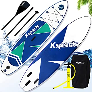 Ksports Inflatable Stand Up Paddle Board 10.6ftⅹ32inⅹ6in, Quality SUP Accessories, Backpack, Waterproof Phone Bag. Wide St...