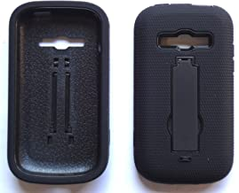 NP CITY Phone Cover Armor Case for Samsung Galaxy Ring SPH-M840 / Prevail 2 M840 (sBLACK/Black AR)