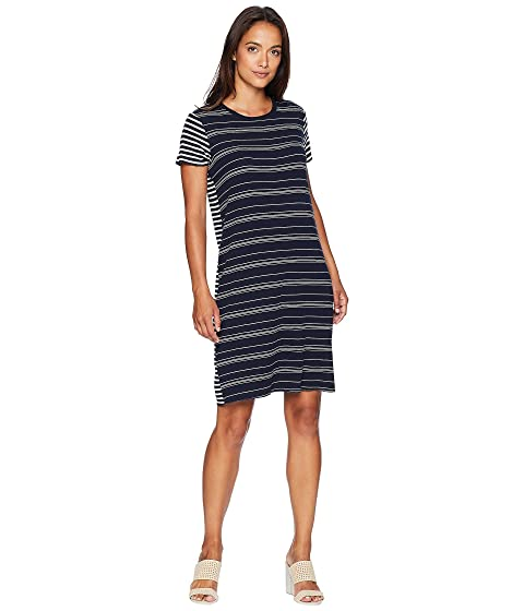 9b7e80dce62 TWO by Vince Camuto Short Sleeve Mixed Stripe T-Shirt Dress at 6pm