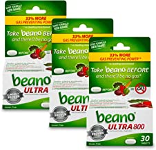 Beano Ultra 800, Gas Prevention and Digestive Enzyme Supplement, 30 CT, 3 Pack