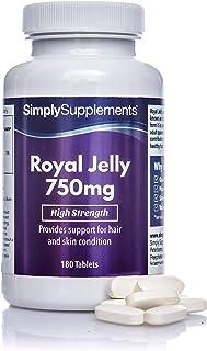 comprar comparacion Jalea Real 750 mg - ¡Bote para 6 meses! - 180 Comprimidos - SimplySupplements