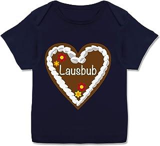 Shirtracer Oktoberfest & Wiesn Baby - Lebkuchenherz Lausbub - Kurzarm Baby-Shirt für Jungen und Mädchen