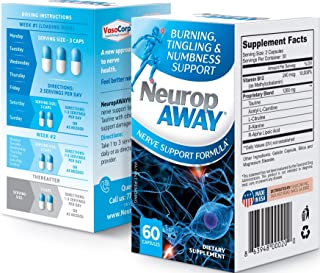 NeuropAWAY Nerve Support Formula Pain Relief | 60 Capsules Nerve Pain Relief, Pain Relief for feet, for Burning Numbness P...