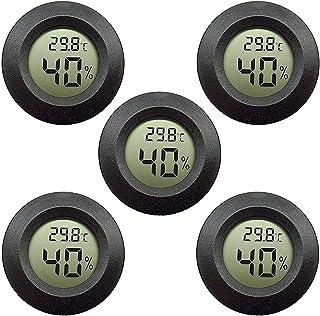 5er-Pack LCD Digital Hygrometer Thermometer, Innen-Außenfeuchtemessgerät..
