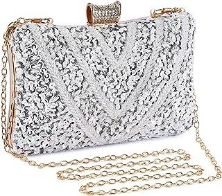 c9d3e136466 Bolso de Noche Bolso de Hombro Mujer Glitter Diamond Hard Shell Clutches  para Boda,Fiesta