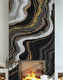 gold and black pattern wallpaper