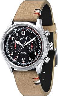 Flyboy Lafayette Mens Analog Japanese Quartz Watch with Leather Bracelet AV-4054-02