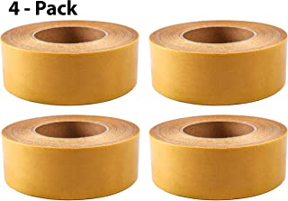 (4-Pack) Double-Sided Carpet Tape - 90 Feet, 2 Inches Wide - Adhesive Keeps Rugs in Place on Carpet, Hardwood, Tile, Linoleum - Easily Removable with No Residue (90 Feet, 30 Yards, 27.4 Meters)