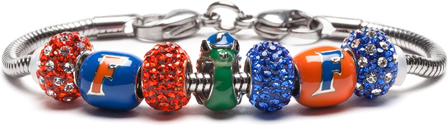 University of Florida Charm Bracelet Steel Recommended Gator Stainless Cha At the price