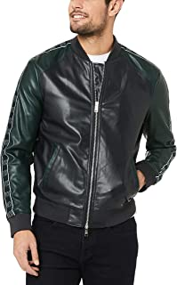 Armani Exchange A|X Men's Blouson Jacket, Navy/June Bug, M